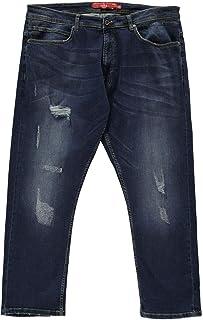 D555 Jeans Denim Asher Ripped Mens Trouser Pants Dark Vintage