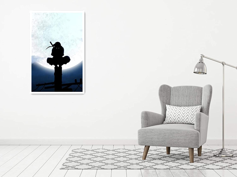 Itachi Night Naruto Poster Dekoration Gem/älde /Ölgem/älde Wandkunst Wohnzimmer Poster Schlafzimmer Gem/älde 20 cm x 30 cm gerahmt