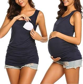 تي شيرتات علوية للأمهات للأمهات من Hotouch بدون أكمام ناعمة بعد الولادة ملابس الحمل