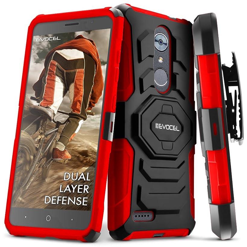 ZTE MAX XL/ZTE Blade Max 3 / ZTE Max Blue Case, Evocel [New Generation Series] Belt Clip Holster, Kickstand, Dual Layer for ZTE N9560 / ZTE Z986 / ZTE N986, Red