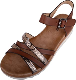 ABSOLUTE FOOTWEAR Womens Summer/Holiday/Casual Sandals/Shoes/Flip Flops with Strap Design