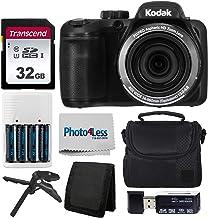 Kodak PIXPRO AZ401 Astro Zoom 16MP Digital Camera (Black) + Point & Shoot Camera Case + Transcend 32GB SD Memory Card + Re...