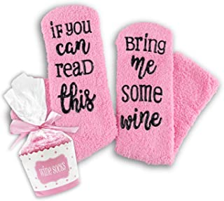 Sungrace Luxury Wine Socks with Cupcake Gift Packaging