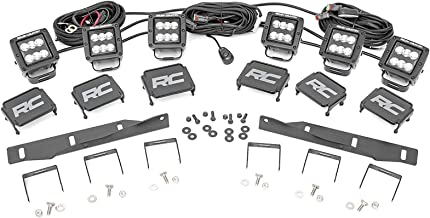 Rough Country LED Triple Cube Fog Light Kit (fits) 2017-2019 Raptor F150 Includes (6) Black Series LED Cubes 70700