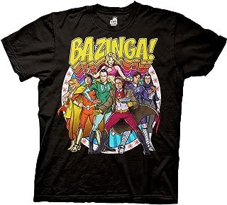 Big Bang Theory Bazinga Group Comic Heros Adult T-Shirt