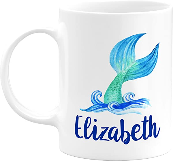 Dabbing Unicorn Mermaid Personalized Coffee Mugs With Name 11oz 15oz Large Cup With Matching Coaster Birthday Gifts Mothers Day Gifts Christmas Gifts Gift For Granddaughter Daughter