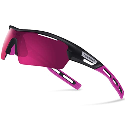 d98cfc6b6e1d Torege Polarized Sports Sunglasses for Men Women Cycling Running Driving  TR033