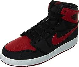 Nike Mens AJ1 Air Jordan 1 KO High OG Bred Black/Varsity Red-White Leather Size 10