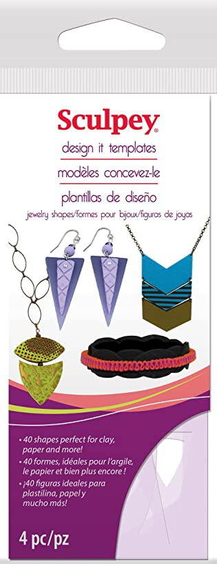 Sculpey AS2137 Design It Jewelry Shapes Templates