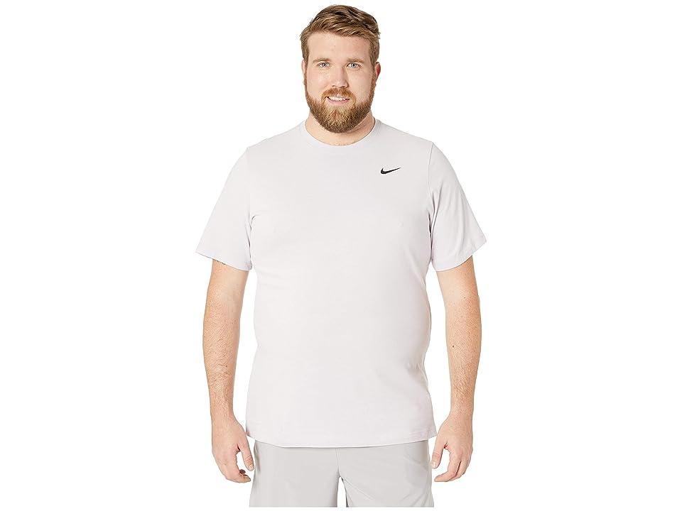 Nike Big Tall Dry Tee Dri-Fit Cotton Crew Solid (Pink Foam/Pale Pink/Black) Men