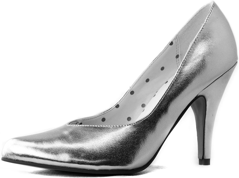 Sugar Women's 1 2 Natalie-03 Metallic V Cut Pointy Pumps Fashion shoes