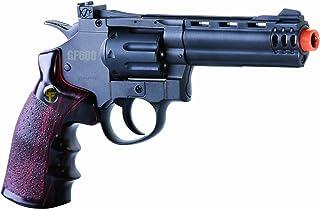 GameFace ACG357 CO2-Powered GF600 Semi-Auto 8-Shot 357 Airsoft Revolver, Grey/Brown
