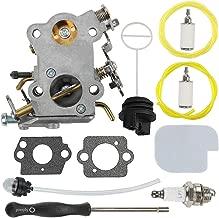 Mckin C1M-W26C P3314 Carburetor + Fuel Cap + Air Filter Adjustment Tool fits Poulan P3314WSA P3416 P3516 P3816 P3818 P4018 P4018WT P4018WTL P4018WM Gas Chainsaw Parts 545070601