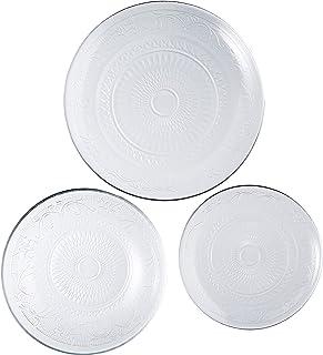 Luminarc SIXTINE 9423979 Service de table en verre 18 pièces 6 personnes