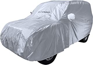 Amazon Brand - Solimo Mahindra Scorpio Water Resistant Car Cover (Silver)