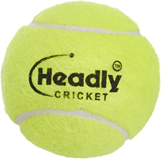 Silver's Unisex Adult Headley Light Cricket Tennis Ball - Yellow, Pack of 6