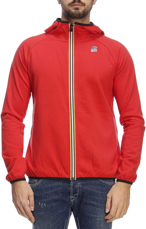 K-Way Herren K0066Q0K08 Rot Polyester Sweatshirt
