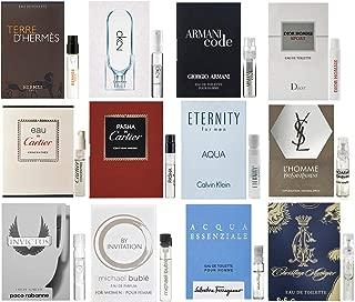 Designer cologne samples for Men - Lot x 12 Fragrance Sample Vials