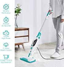 Dcenta Steam Mop Cleaner,12 in 1 Convenient Detachable Handheld Steam Cleaner for Hardwood, Tiles,Carpet with Multifunctional Tools,1500W Handheld Steamer for Kitchen,Garment