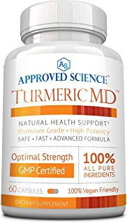 Turmeric MD - with BioPerine & 95% Standardized Turmeric Curcuminoids - Natural Anti-Inflammatory, Antioxidant, Pain Relief and Antidepressant - 60 Capsules (1 Month Supply)