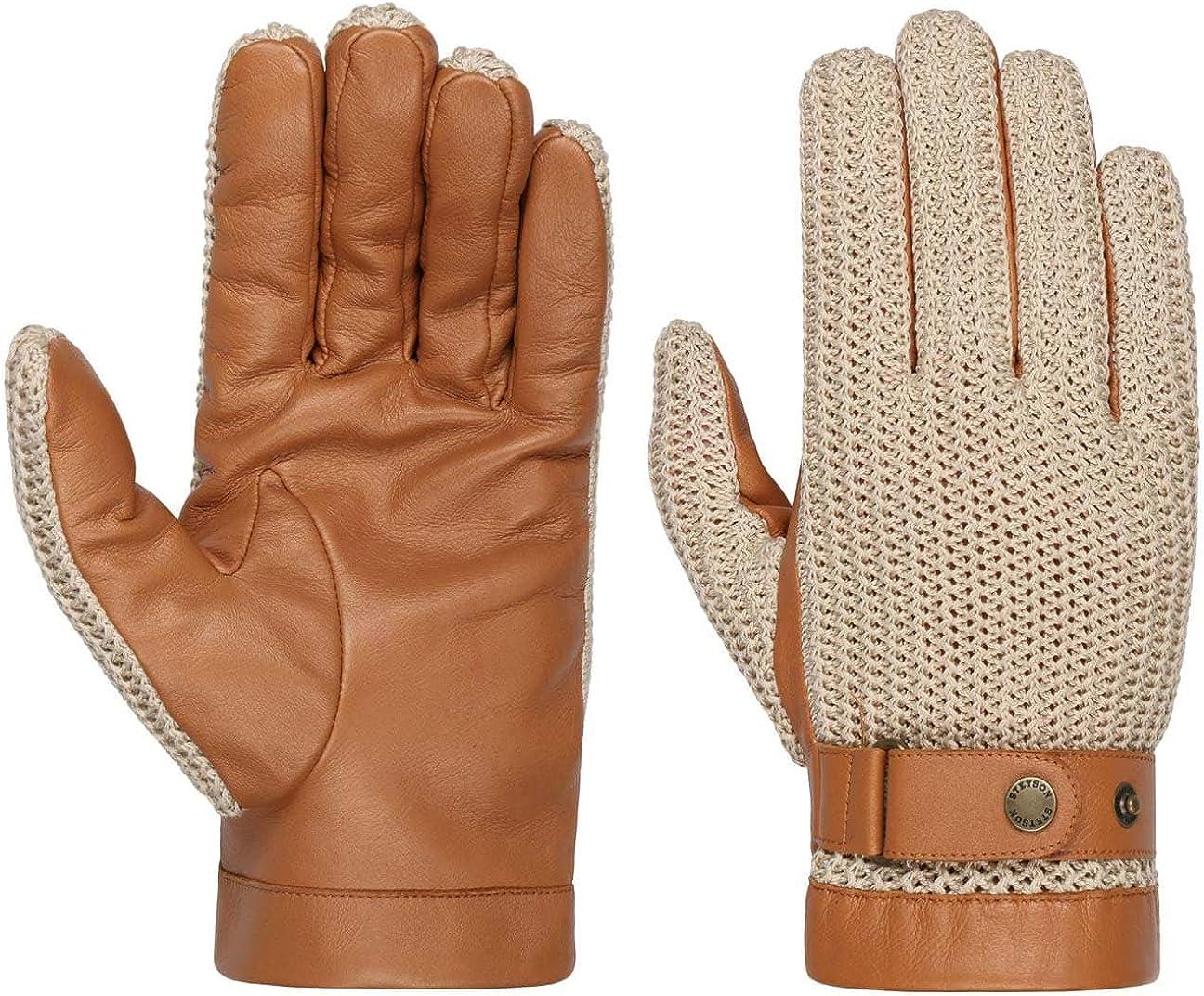 Stetson Sheep Nappa Leather & Knit Gloves Women/Men -