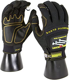 MagnoGrip 002-665 Pro Fingergrip Magnetic Glove with Touchscreen Technology, Large, Black