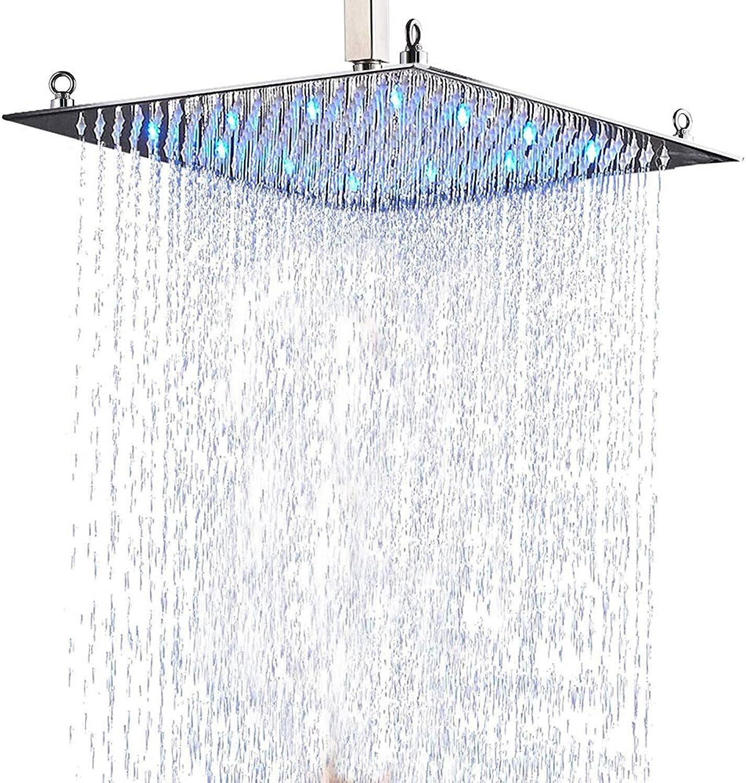 Suguword Duschkpfe Luxurious Badezimmer Duschkopf 20 (50  50cm) LED Chrom Duschkopf in verchromter Ausführungmit abnehmbarem Duschkopf.