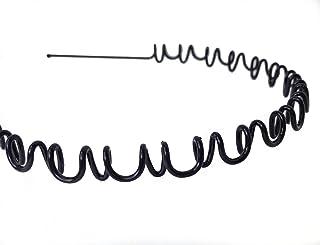 Unisex Black Wavy Hair Band to Hold Long Hair