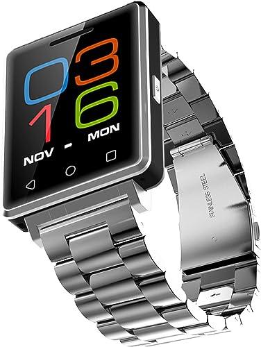 Instructions De Téléphone   bleutooth Poussée Steel - argent Fitness Wrist Watch For Ladies , Chronomètre Podomètre De Montre-Bracelet Numérique   Abacus Montre Intelligente