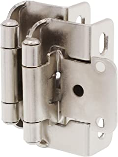 """Best DecoBasics 1/2"""" Overlay 3/4"""" Frame Partial Semi Wrap Cabinet Hinge (50 Pack, Brushed Nickel) Review"""