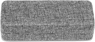 Molshine Hard Shell Medium Size Linen Fabric Eyeglass Case,Linen Women Glasses Case