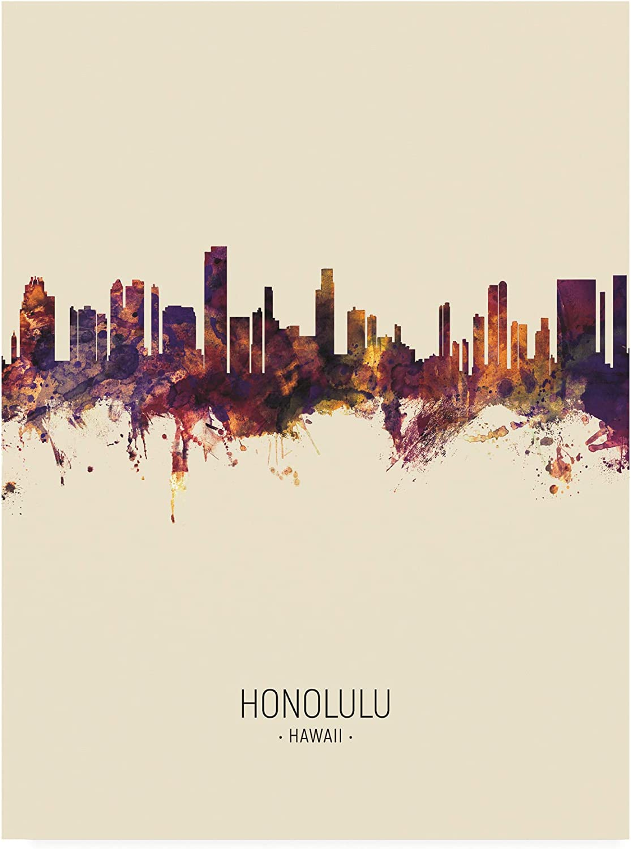 Trademark Genuine Free Shipping Max 60% OFF Fine Art Honolulu Hawaii by III Micha Portrait Skyline