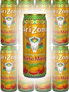 Arizona Tea Mucho Mango, 23 Oz Tall Cans (Pack of 8, Total of 184 Oz)
