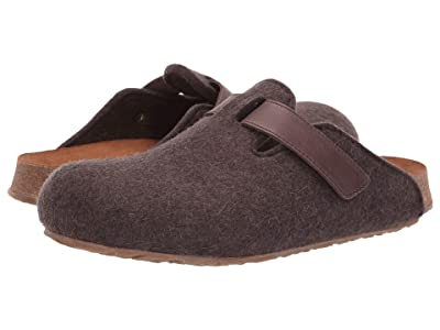 Haflinger Bio Kurt Velcro Felt (Brown) Clog Shoes