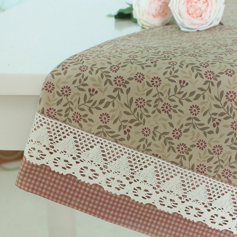 LINGZHIGAN Nappe imperméable à l'eau Tissu Art Table de thé rectangulaire simple Table de réception de mariage (Ce produit ne propose que des nappes) ( conception   B , taille   130220cm )