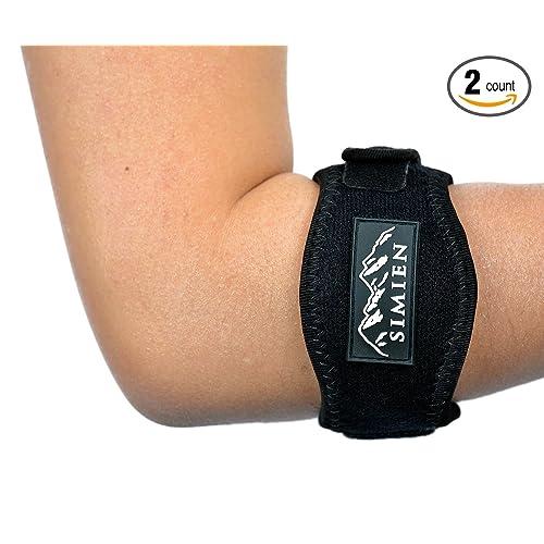 7cdc6f3459 Simien Tennis Elbow Brace (2-Count), Tennis & Golfer's Elbow Pain Relief
