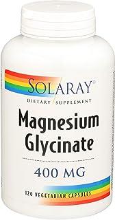 Solaray Magnesium Glycinate Dietary Supplement, 400 mg per 4 Capsules, 120 Count