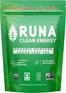 Organic Guayusa Loose Leaf Tea by RUNA, 1 Pound (16oz) | Packed with Natural Caffeine for Clean Energy | Alternative to Ye...