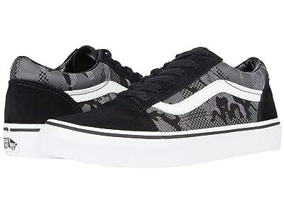 Vans Kids Old Skool (Big Kid) ((Pattern Camo) Black/True White) Boys Shoes