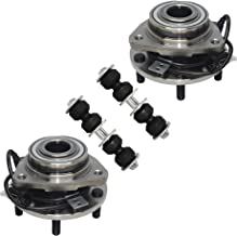 Detroit Axle - 4PC Front Wheel Hub Bearings and Sway Bars for 1997 1998 1999 2000 2001 2002 2003 2004 2005 Chevrolet Chevy S10 Blazer 4WD 4X4