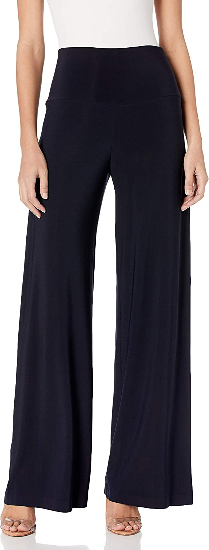Norma Kamali Women's Straight Leg Pant Go in Midnight