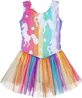 Girls Gymnastics Skirted Leotards Ballet Tutu Dance Dress Mermaid Unicorn Gymnastic Skirt(Baby Girls/Toddler Girls/Big Girls)