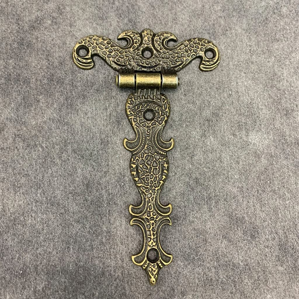 UXZDX 2pcs Cabinet Door Butt National Fashionable uniform free shipping Hinges Large H Plated Brass Vintage