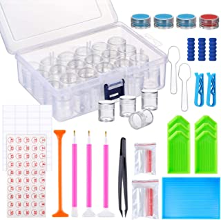 Pllieay 92 Pieces 5D Diamond Painting Tools and Accessories Kits, DIY Diamond Painting Accessories with Diamond Embroidery...