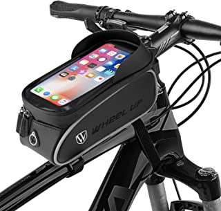 Bike Front Frame Bag,Tsuinz Bike Phone Bag Waterproof Bicycle Phone Mount Bag Phone Case Holder...