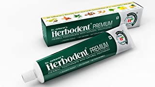 Herbodent Dr. Jaikaran's Premium Toothpaste (Best Herbal Toothpaste For Complete Oral Care) - Pack Of 3 Green