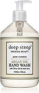 Deep Steep Coconut Oil Hand Wash, Pure, 17.6 Fluid Ounce