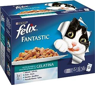 Felix - Fantastic Gelatina de Festín del Mar - Paquete de 12 x 100 g - Total: 1200 g