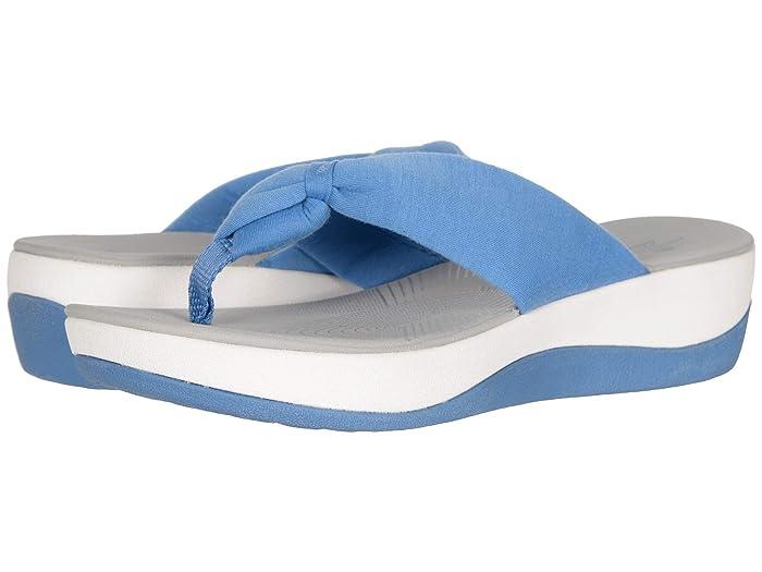 Clarks  Arla Glison (Blue Solid Textile) Womens Sandals