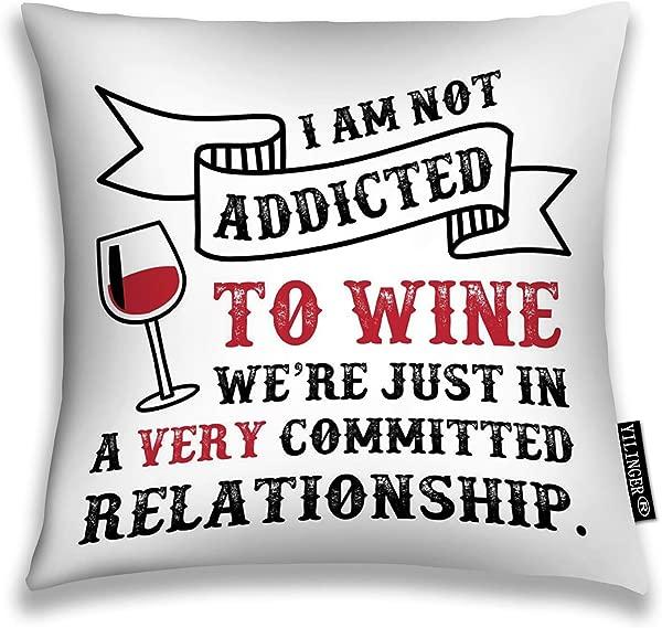 依林格装饰枕套抱枕套我不沉迷于酒我们只是在一个非常忠诚的关系靠垫套 16X16